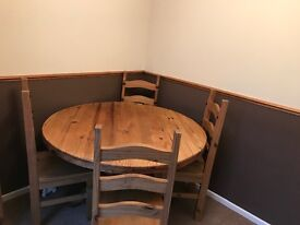 Dining table with four chairs. Great condition