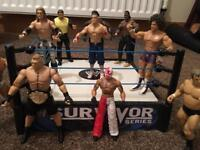 WWE wrestling ring and 10 figures!🎁🎁