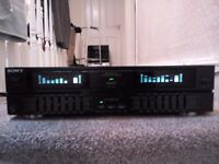 sony graphic equailzer SEQ-V7700 7band twinspectrum analyzer good working order