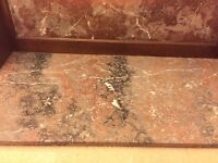 Beautiful marble and wood dresser top