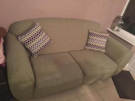 Green sofa £50 1 year old hardly used