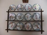 Complete Set of 12 Imperial Jingdezhan 'Beauties of the Red Mansion' Limited Edition Plates