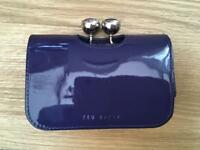 Ted baker patent small leather purse