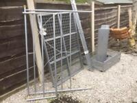 METAL DOUBLE BED FRAME INC UNDER THE BED DRAWERS - EXCELLENT CONDITION