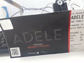 2 x Adele tickets for Sale Thursday 29th June Block 140, Row 40 Seats 181 - 182 £250 per ticket