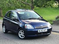 **AUTOMATIC+LOW MILES+TOYOTA YARIS CDX 1.3 PETROL 5 DOOR BLUE (2002 YEAR)*
