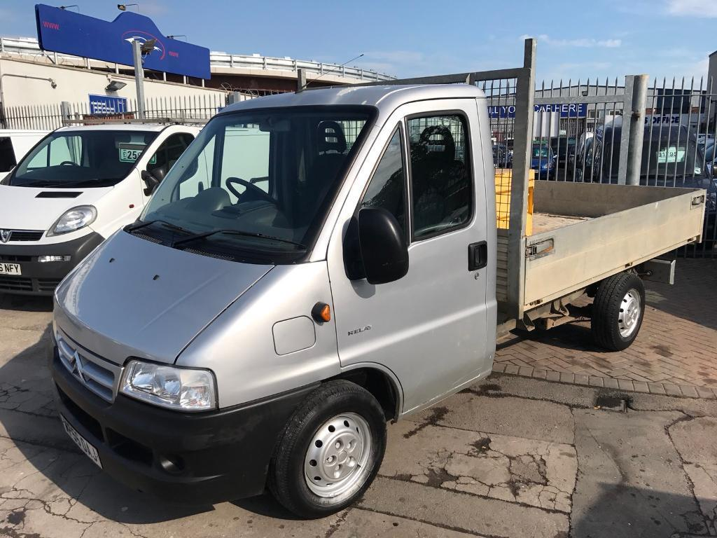 2006 56 CITROEN RELAY FLATBED DROPSIDE RARE TRUCK LOW MILES STUNNING CONDITION LONG MOT NO VAT