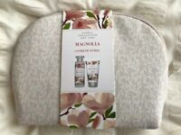 Marks & Spencer Magnolia Cosmetics Purse with shower cream and bath cream