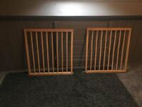 two wooden stair gates for sale either together or separate