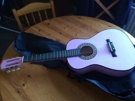 Childs pink guitar