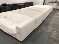 IKEA SOFA - WHITE USED