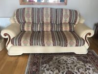 Sofa and two matching armchairs