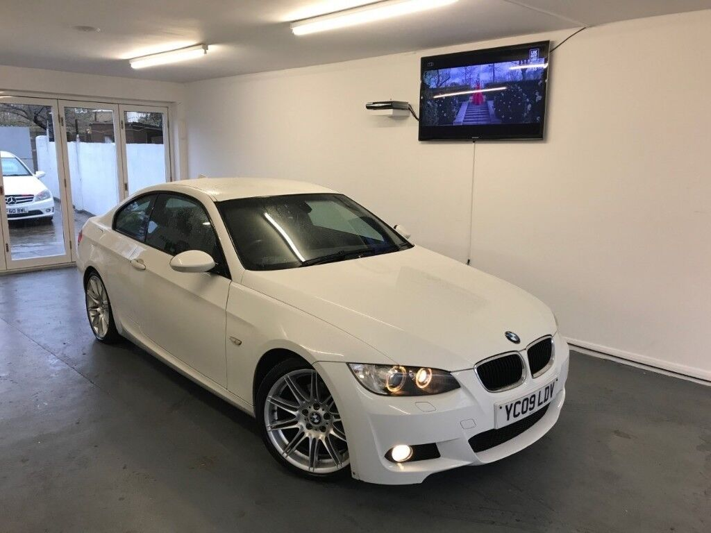 2009 white bmw 320d m sport highline auto coupe e92 not e93 massive spec full service history. Black Bedroom Furniture Sets. Home Design Ideas