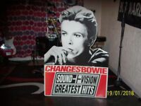 DAVID BOWIE : CHANGES : RECORD STORE CARDBOARD DISPLAY