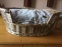 Brand new dog/cat bed. Handmade washable cushion.