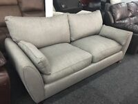 New/Ex Display Dfs Grey Fabric 3 Seater Sofa