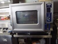 Hobart 6-Grid Electric Combination Steam Convection 3-Phase Oven with Table