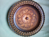 Wooden Carved Decorative Plate
