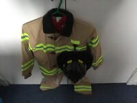 Fire fighter Dress Up outfit with helmet - age 5-6