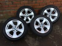 "genuine Bmw 320 120 2013 16""alloy Wheels &tyres Breaking Car"