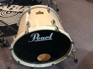 "Pearl Master Custom All Maple Shell 4 ply + 4 ply reinforcement ring bass drum 20""x14 usagé-used"