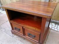 Lovely rustic solid wood tv stand