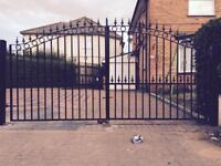 Driveway gate metal