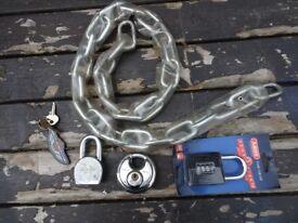 Harley Davidson and Abus locks and chain