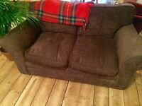 Lovely comfy brown two seater sofa, great condition