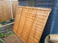 Fence panel + 1x gravel board