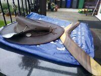 Barmah hat and boomerang