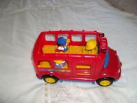 Fisher price big red bus with sound and people