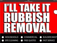 RAPID WASTE/RUBBISH REMOVAL 07789625976 WE MOVE ANYHING ANYTIME GRAB HIRE ALSO AVAILABLE