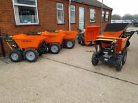 MINI DUMPER 4 x 4 MICRO DUMPER POWER BARROW 250KG *Briggs & Stratton* STABLES, BUILDING,LANDSCAPE