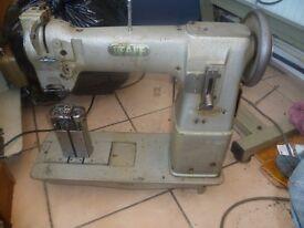 Pfaff Twin Needle, needle feed Industrial sewing machine