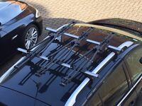 3 x Thule roof bike carriers