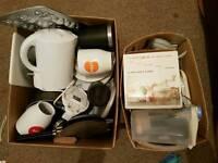 Various kitchen bits free toaster iron kettle plates pans cake pop tray free warrington