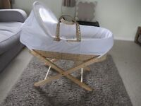 MOSES BASKET WITH STAND NEVER USED