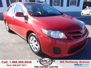 2012 Toyota Corolla CE with Air and Cruise$124.69 BI WEEKLY!!!