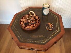 Beautiful Yew Octagonal Table