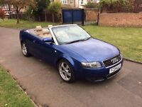 Audi A4 Cabriolet 1.8 T Sport 2dr, 6 MONTHS FREE WARRANTY, FULL SERVICE HISTORY, LEATHER SEATS