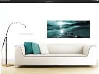 Teal wall canvas