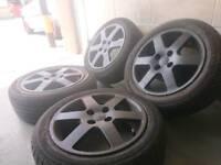 """Honda 15"""" 4x100 alloy wheels + tyres"""