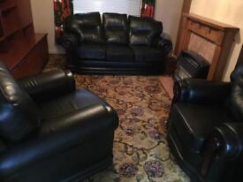 Three piece suite. 3 seater sofa & 2 armchairs