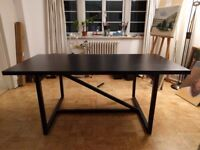 Beautiful designer dining table dark brown sits 6/8 without chairs
