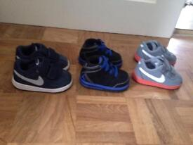3 pairs of baby trainers in Excellent Condition.