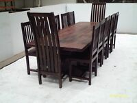 Dining Table & 12 Chairs, solid country style