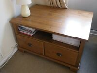 SOLID OAK COFFEE TABLE / TV STAND