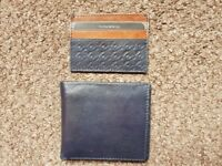 Savile Row Leather Wallet and Card Holder Set