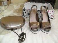 Ladies shoes size 7- High Heels and wedge